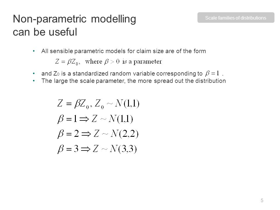 Non-parametric modelling can be useful