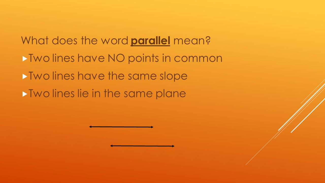What does the word parallel mean