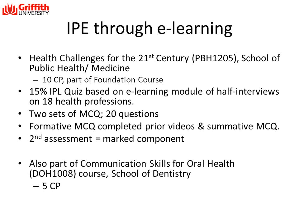 IPE through e-learning