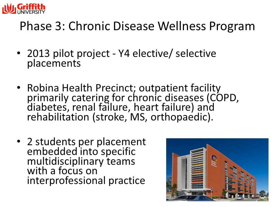 Phase 3: Chronic Disease Wellness Program