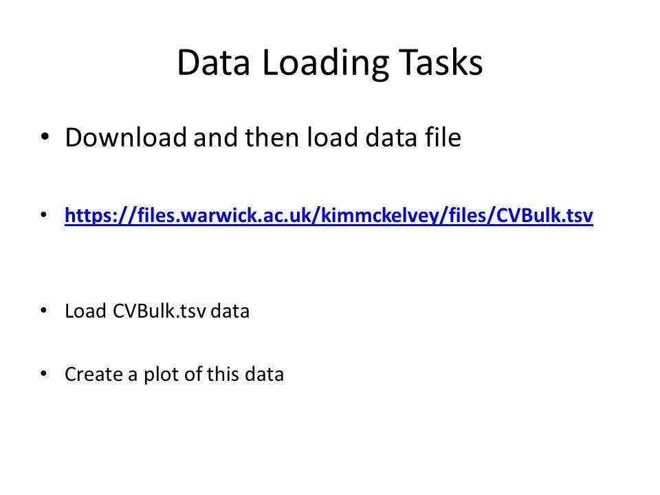 Data Loading Tasks Download and then load data file