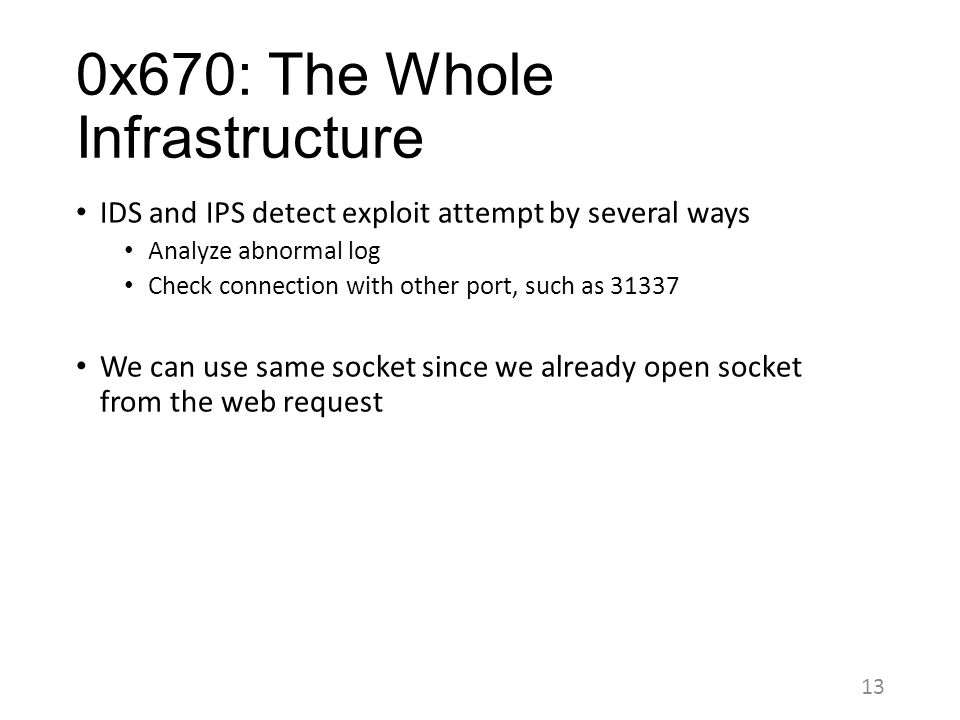 0x670: The Whole Infrastructure