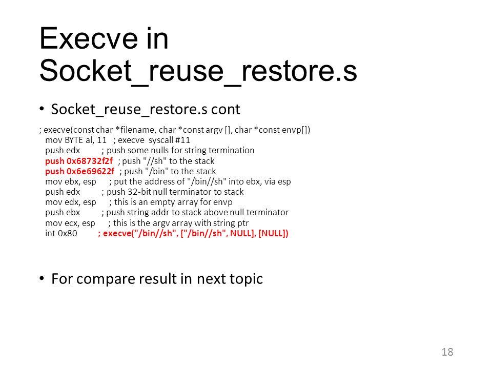 Execve in Socket_reuse_restore.s