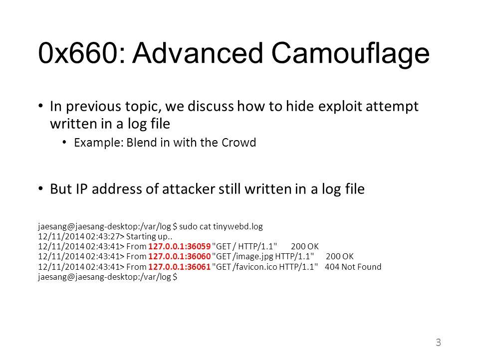 0x660: Advanced Camouflage