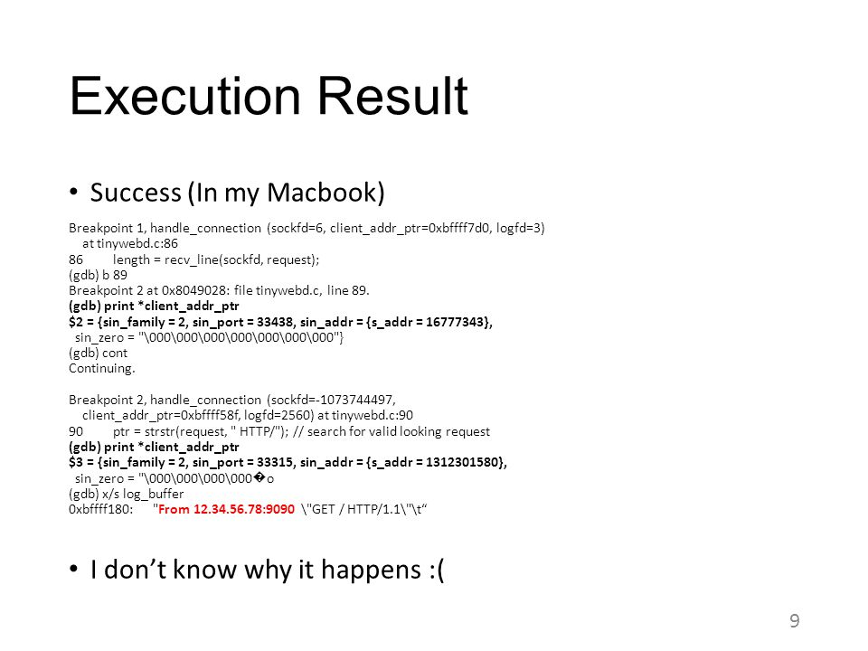 Execution Result Success (In my Macbook)