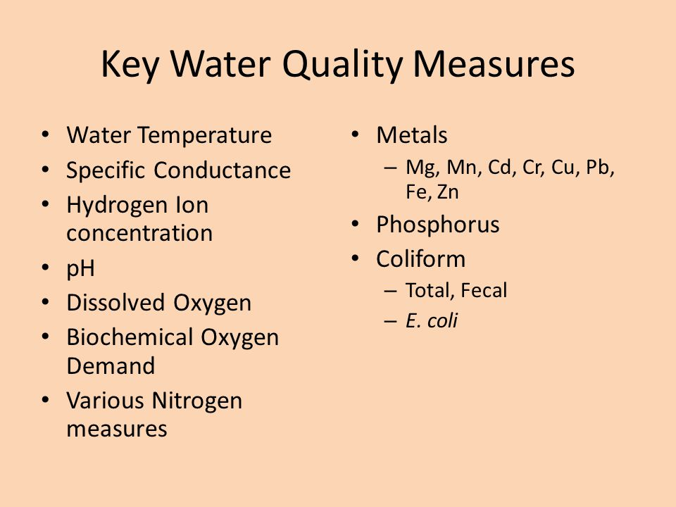 Key Water Quality Measures