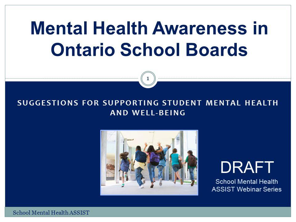 Mental Health Awareness in Ontario School Boards
