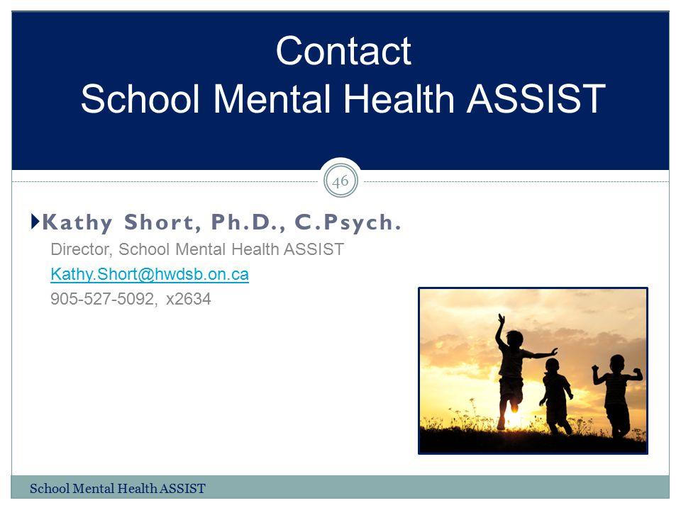 Contact School Mental Health ASSIST
