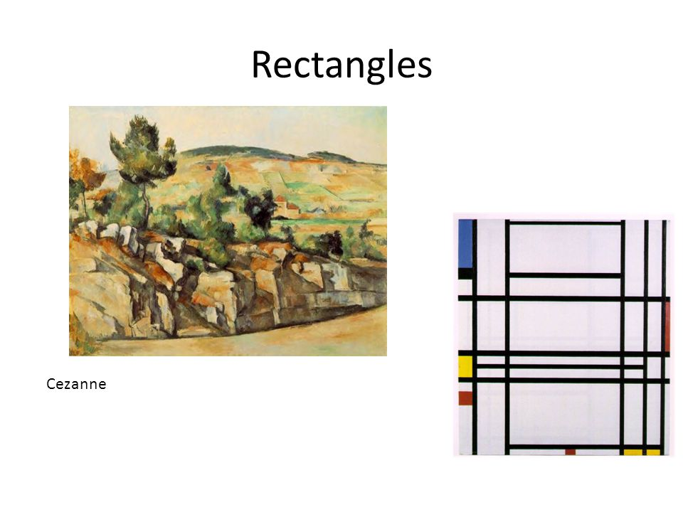 Rectangles Cezanne