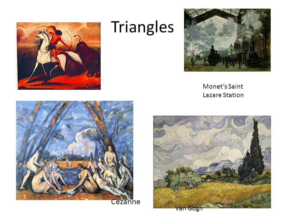 Triangles Monet's Saint Lazare Station Cezanne Van Gogh