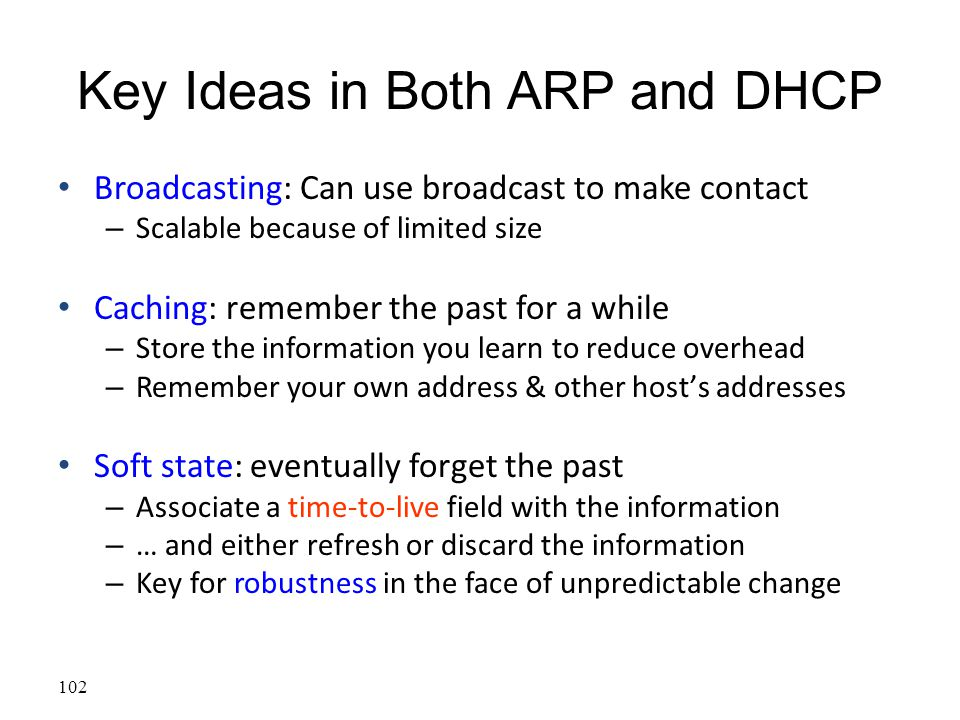 Key Ideas in Both ARP and DHCP