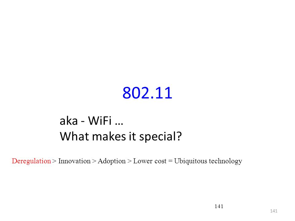 802.11 aka - WiFi … What makes it special