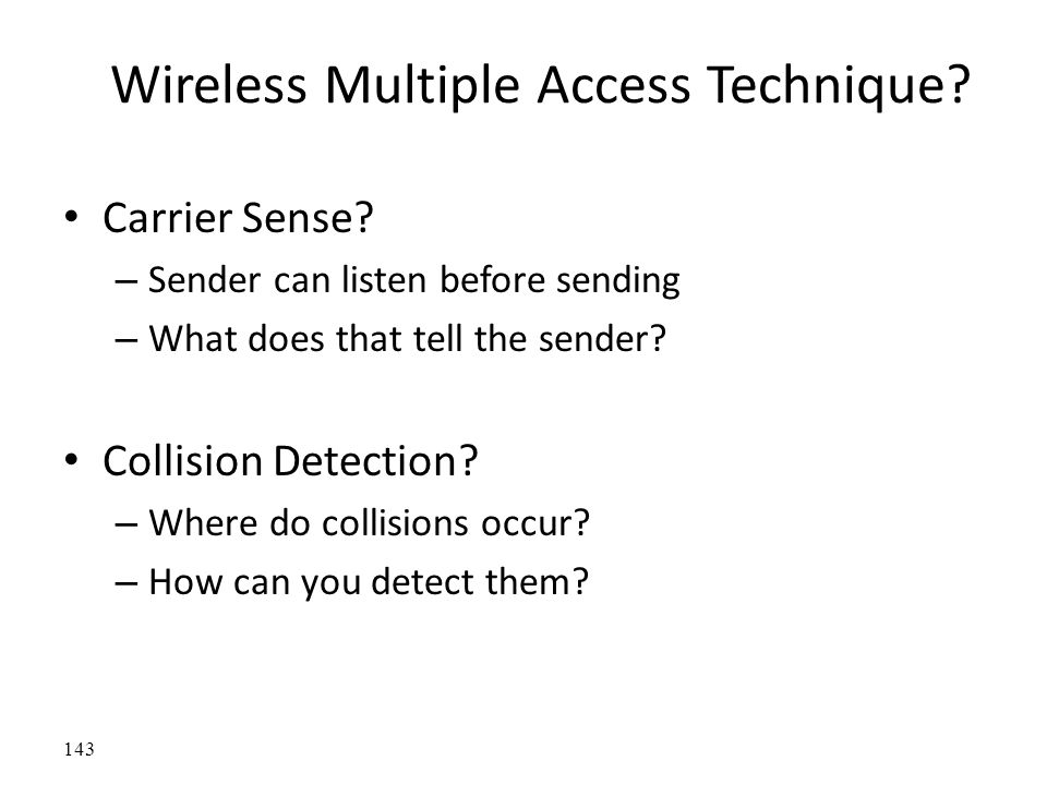 Wireless Multiple Access Technique