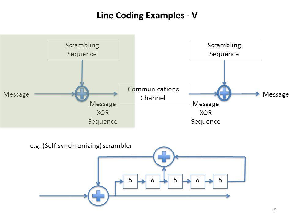Line Coding Examples - V