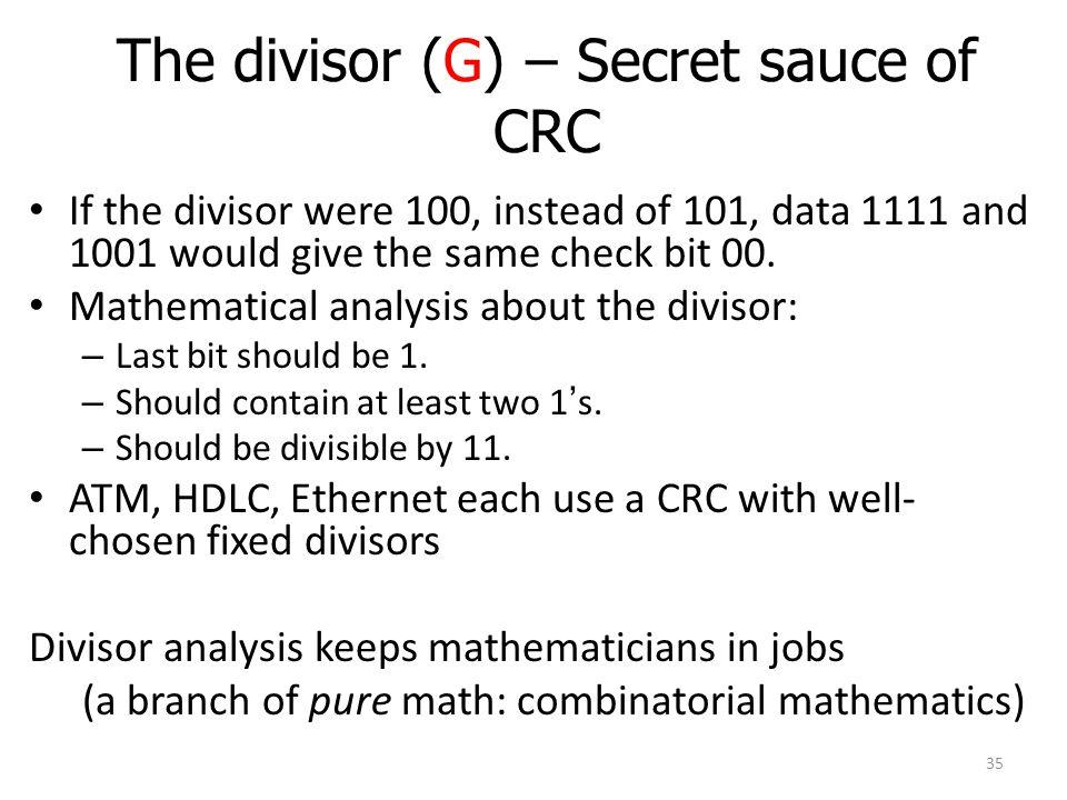 The divisor (G) – Secret sauce of CRC
