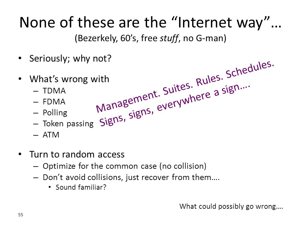 None of these are the Internet way … (Bezerkely, 60's, free stuff, no G-man)