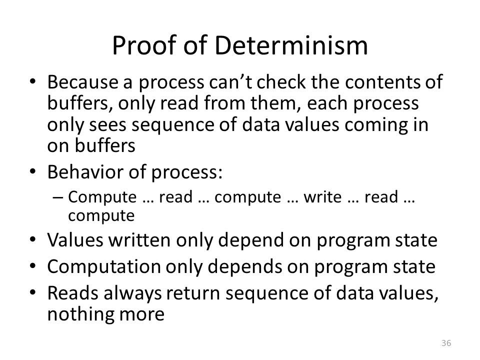 Proof of Determinism