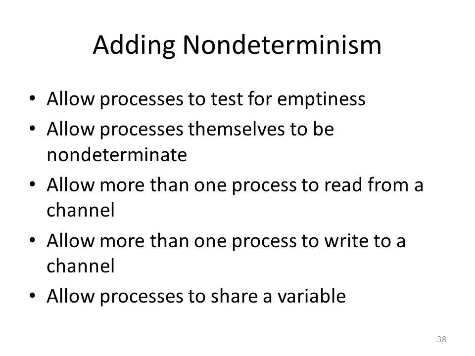 Adding Nondeterminism