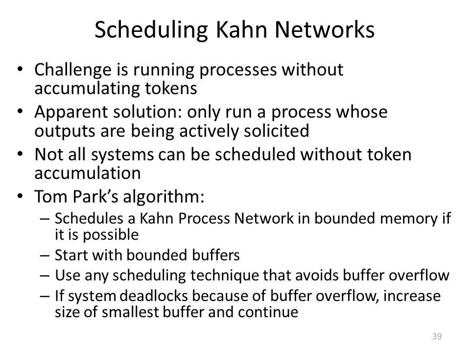 Scheduling Kahn Networks