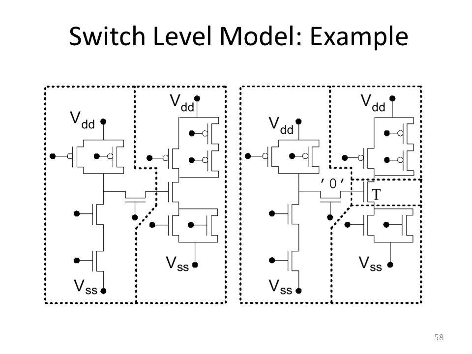 Switch Level Model: Example