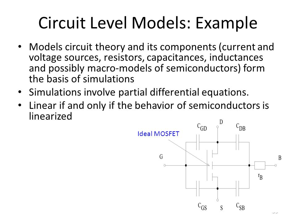Circuit Level Models: Example