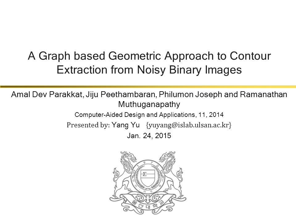 A Graph based Geometric Approach to Contour Extraction from Noisy Binary Images