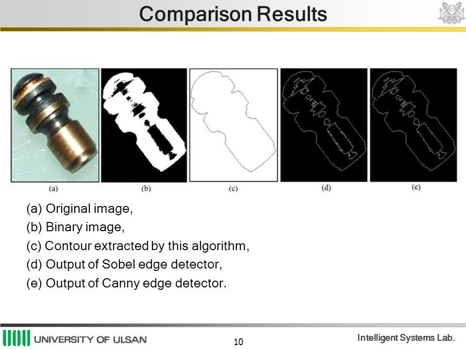 Comparison Results (a) Original image, (b) Binary image,
