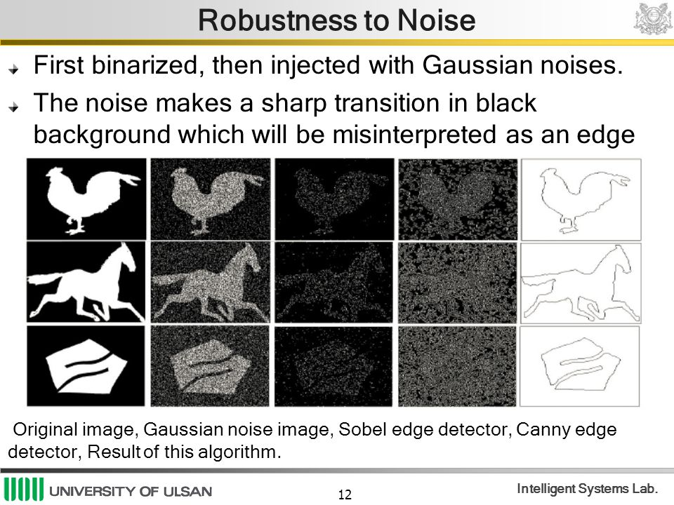 Robustness to Noise First binarized, then injected with Gaussian noises.