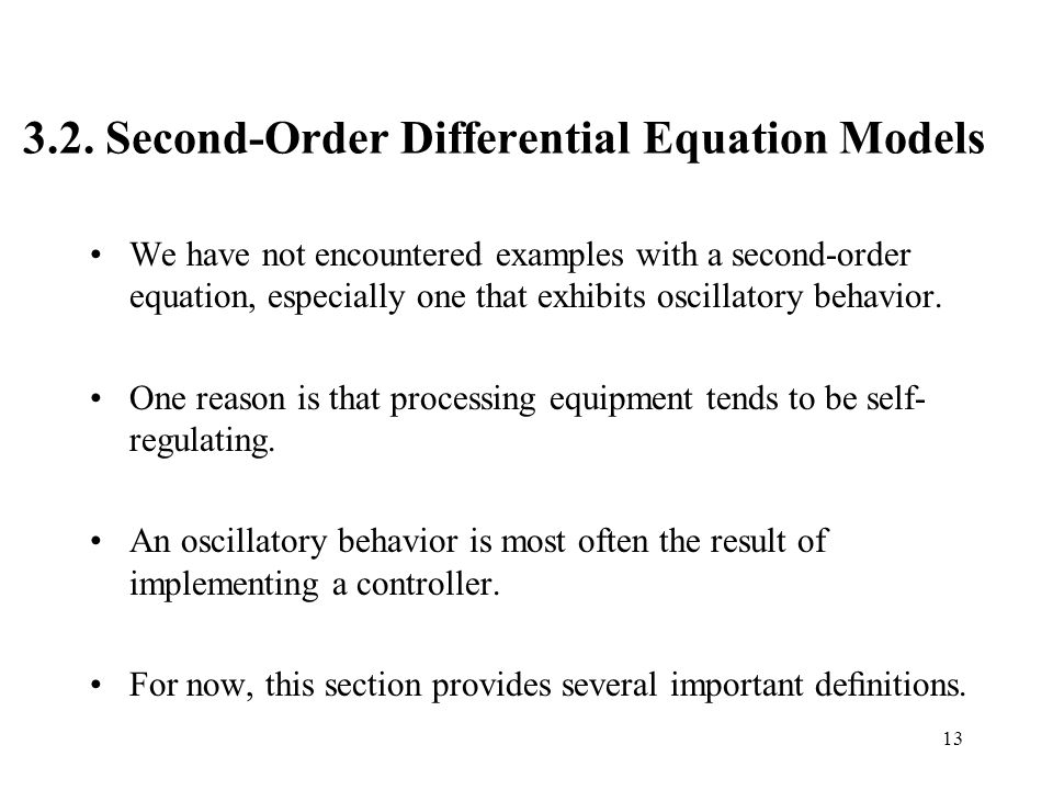 3.2. Second-Order Differential Equation Models