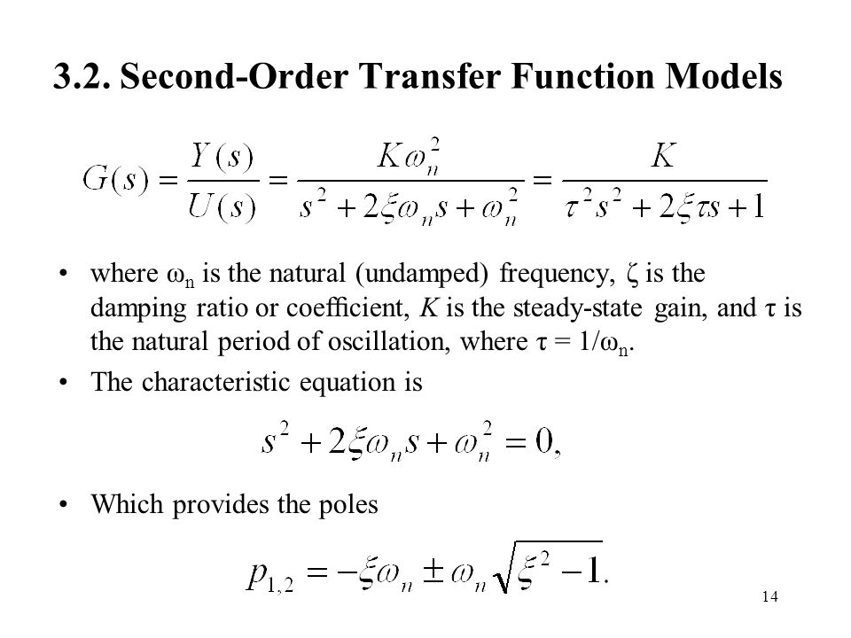 3.2. Second-Order Transfer Function Models
