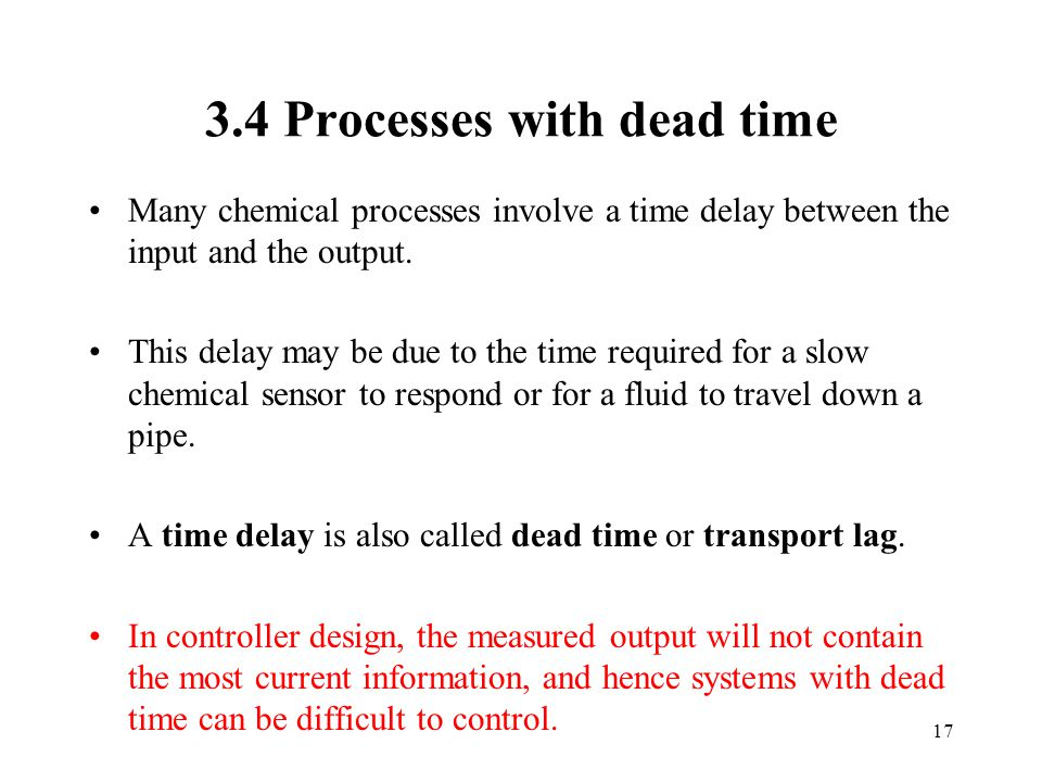 3.4 Processes with dead time
