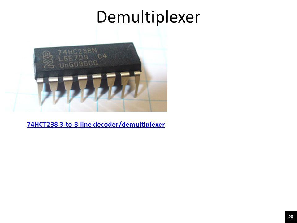 Demultiplexer 74HCT238 3-to-8 line decoder/demultiplexer