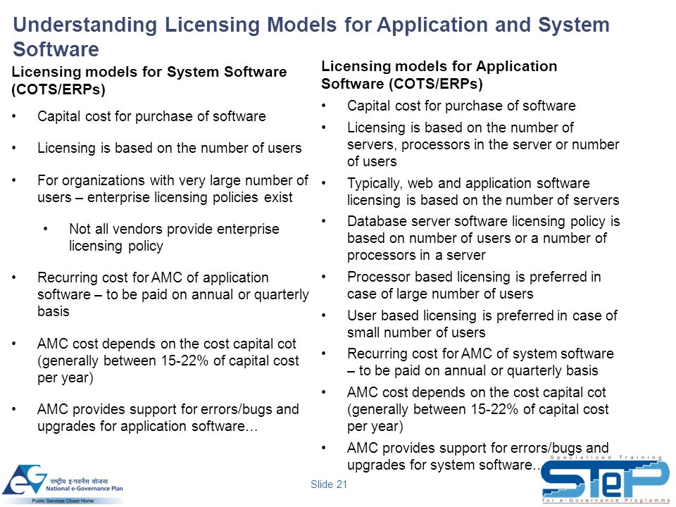 Understanding Licensing Models for Application and System Software