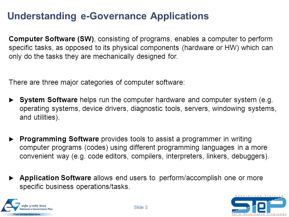 Understanding e-Governance Applications