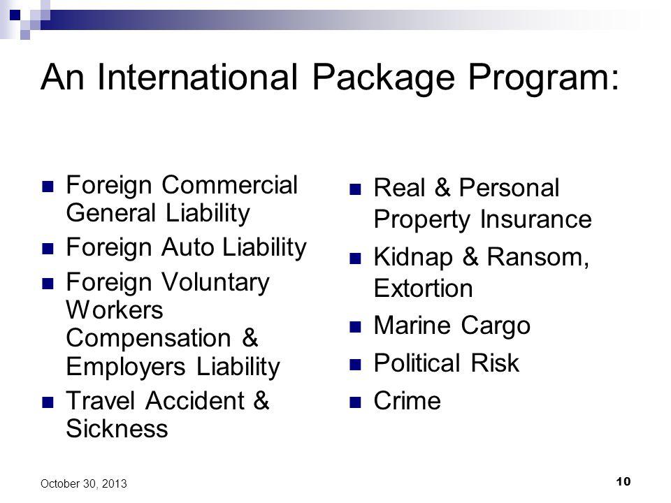 An International Package Program: