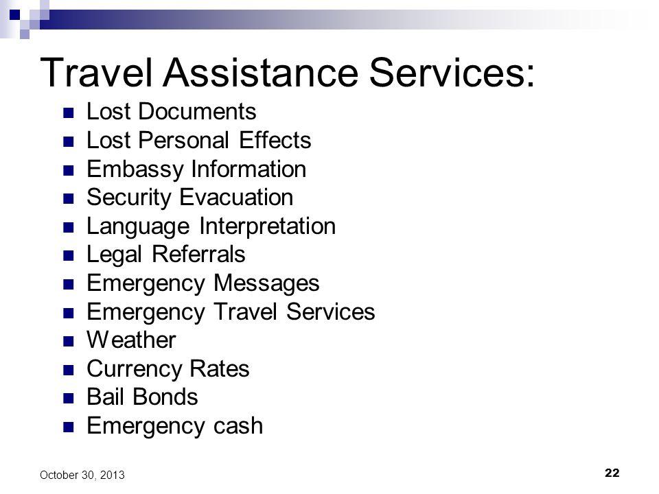 Travel Assistance Services: