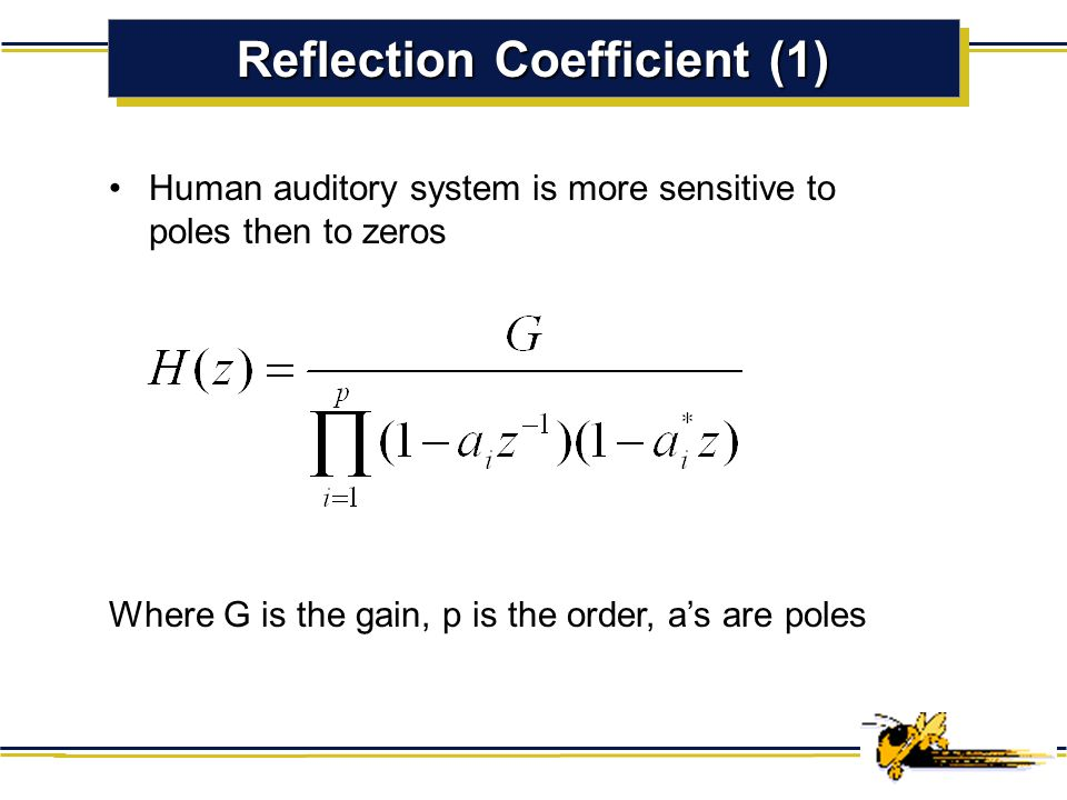 Reflection Coefficient (1)