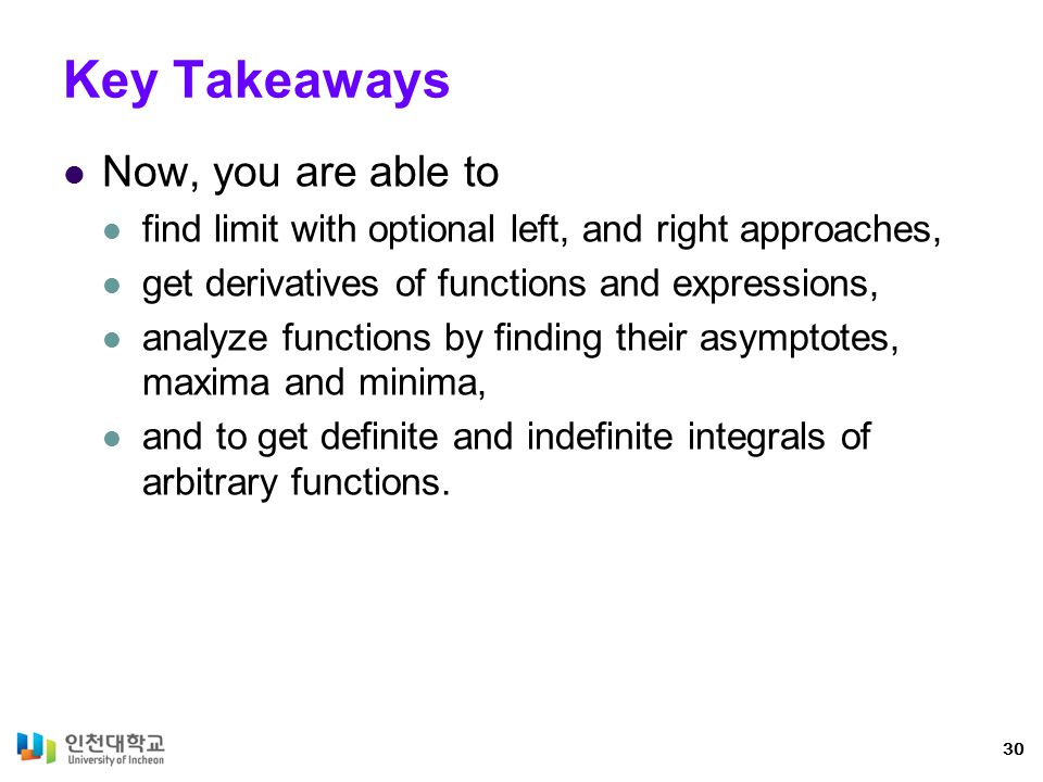 Key Takeaways Now, you are able to