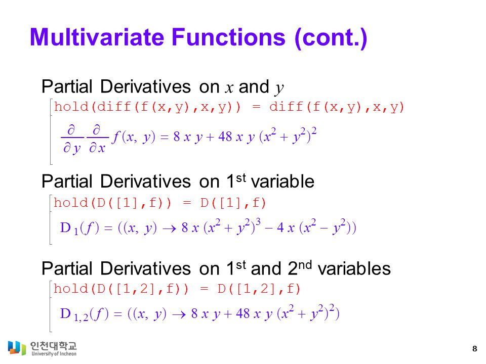 Multivariate Functions (cont.)