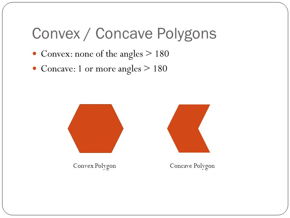 Convex / Concave Polygons