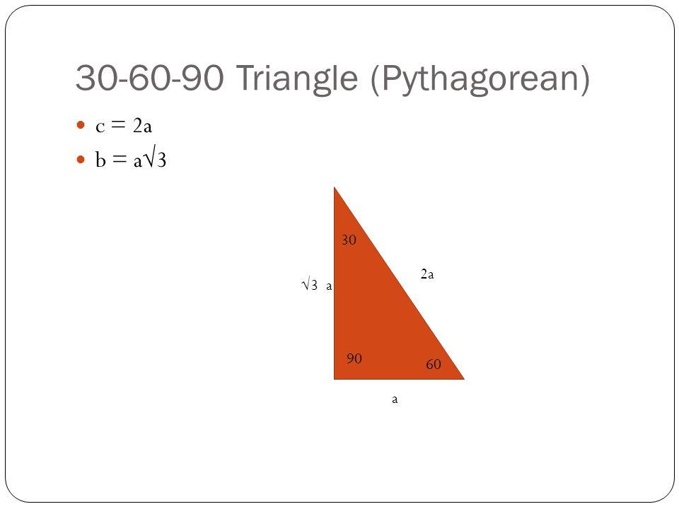 30-60-90 Triangle (Pythagorean)