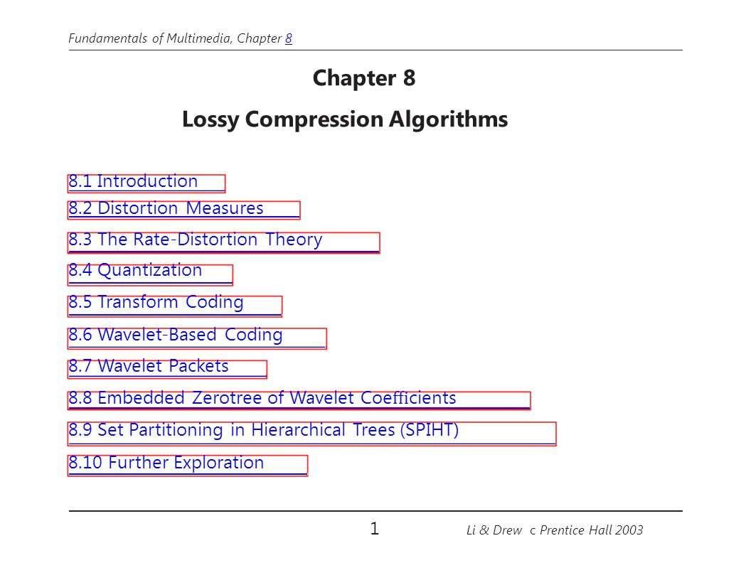 Lossy Compression Algorithms
