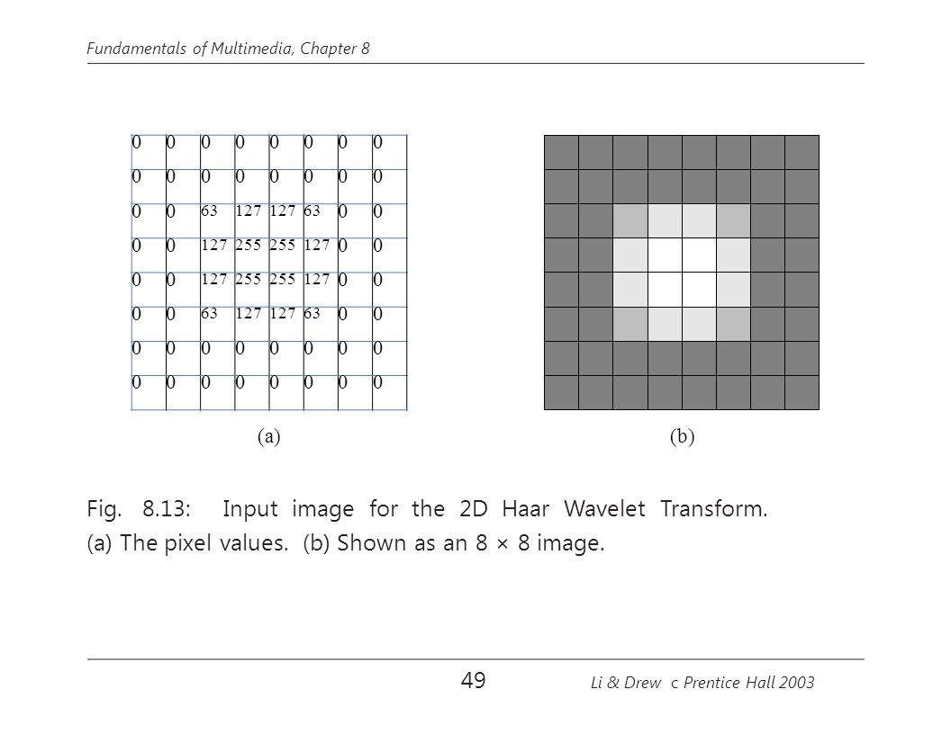 Fig. 8.13: Input image for the 2D Haar Wavelet Transform.
