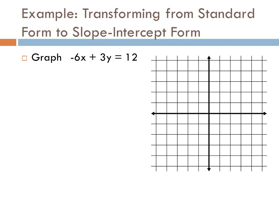 Example: Transforming from Standard Form to Slope-Intercept Form