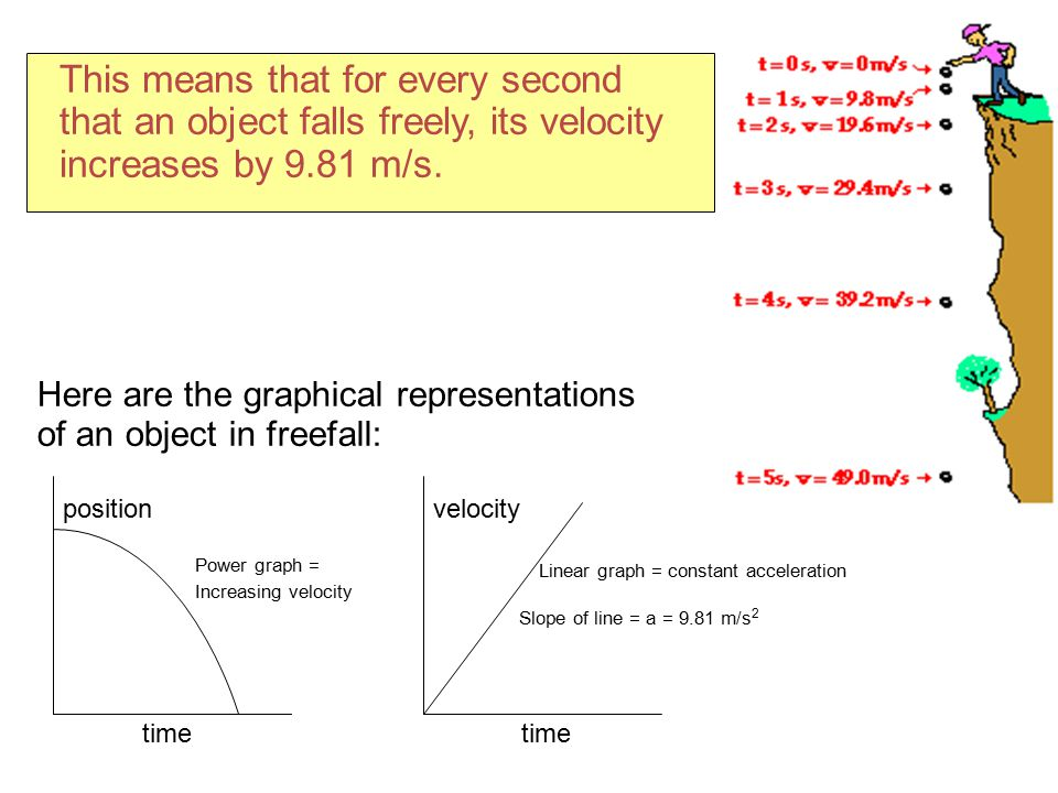 This means that for every second that an object falls freely, its velocity increases by 9.81 m/s.