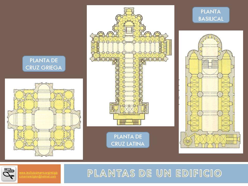 PLANTAS DE UN EDIFICIO PLANTA BASILICAL PLANTA DE CRUZ GRIEGA