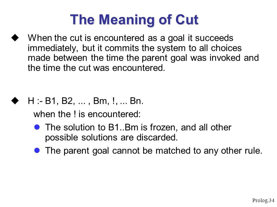 The Meaning of Cut