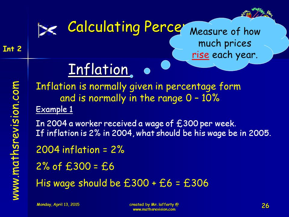 Calculating Percentages
