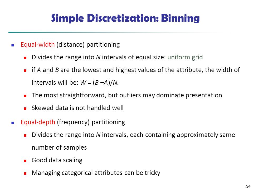 Simple Discretization: Binning