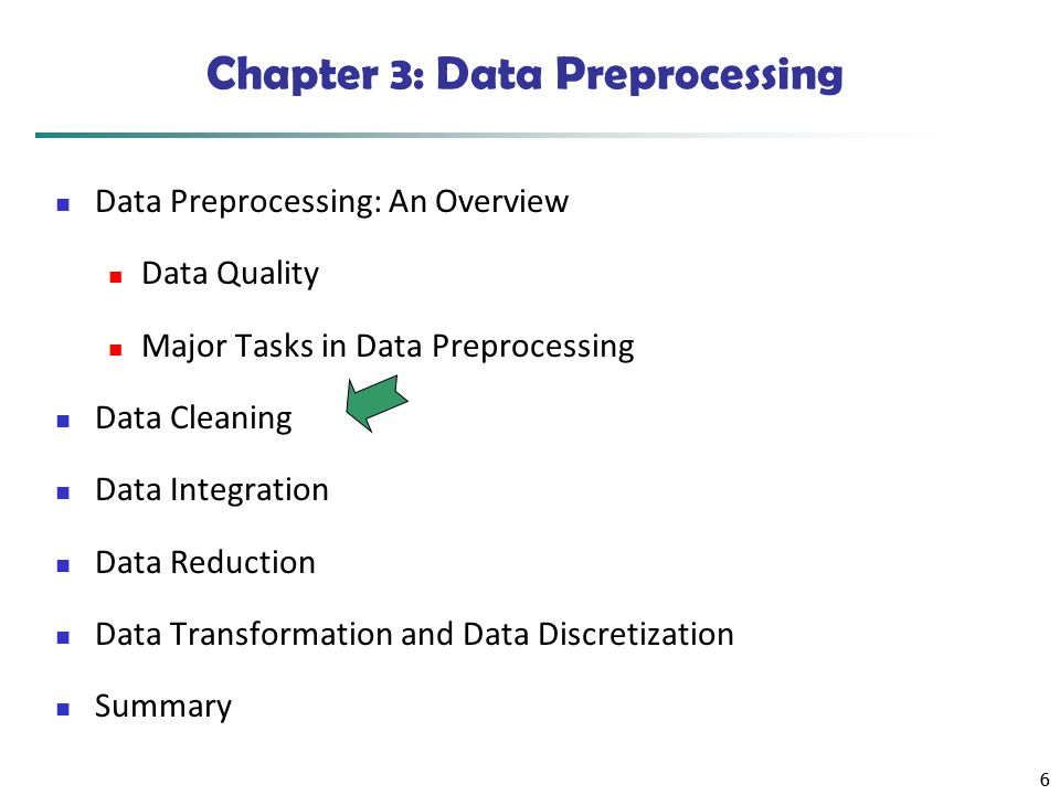 Chapter 3: Data Preprocessing